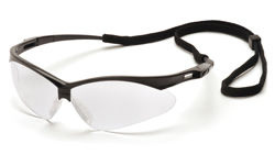 PMXTREME Safety Glasses Black Frame Clear Anti-Fog Lens