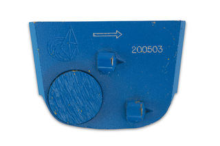 Lavina X Quick Change Trapezoid Pad, with One Metal Button and Two PCD Style Blue