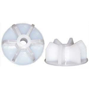 "1/4"" Midwest Rake Polypropylene End Caps - Set of 2"
