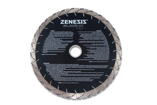 "Zenesis Black 4 Bridge Saw Blade 16"" 25mm Segments 50/60mm"