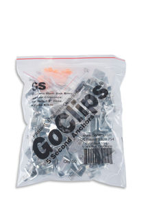 """Go Clips Stainless Steel Sink Clips, Pack Of 50, 1/8"""" Max"""