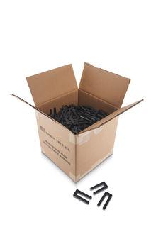 "Tapered Plastic Wedge, Black, 1 1/2"" x 3 3/8"", Box Of 1000"