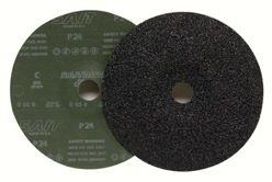 """Sait Silicon Carbide Fiber Discs, 7"""" x 7/8"""", 24 Grit"""