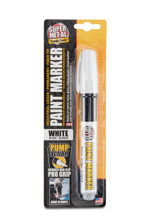 Super MET-AL Paint Marker Fiber Tip, White
