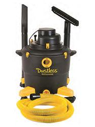Dustless Technologies D1603 Wet/Dry Dustless Vacuum, 11.5 Amp