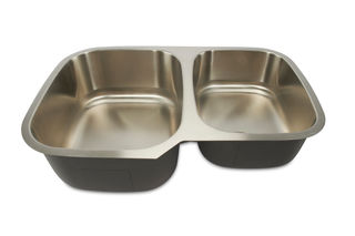 Oliveto Stainless Steel Sink 18 Gauge 60/40 Reverse