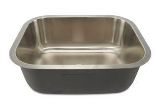 Oliveto Stainless Steel Sink 18 Gauge Singlebowl Utilty 23x17x9