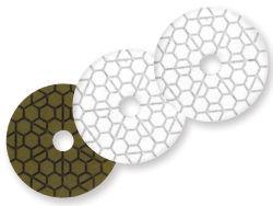 "Diarex Ice C-Frame White Resin Polishing Pad 4"" Position 3"