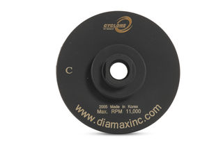 """Cyclone Resin Filled Flat Cup Wheel 4"""" No Water Channel Coarse 5/8""""-11"""