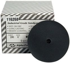"Alpha QRS Silicon Carbide Sandpaper 5"""