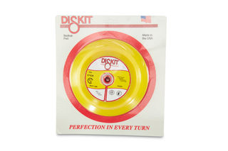 "Diskit Foam Rubber Backup Head 7"" QRS 5/8""-11 Female Thread"