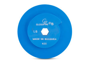 "GlossFire-B Copper Disc 6"" 400 Grit Snail Lock"