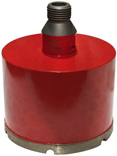 "Dongsin CNC Core Bit 4"" Segment 1/2"" Gas Reverse Thread"