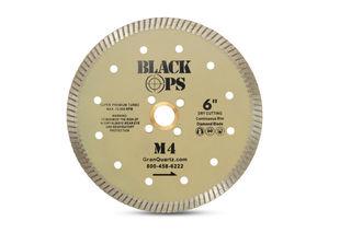 "Black Ops Turbo Blade M4 6"", 7/8"" x 5/8"" x 4 Hole, 10mm"
