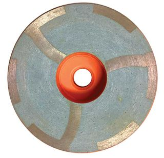 "Dongsin Resin Filled Cup Wheel Beveled Edge 5"", 100 Grit"