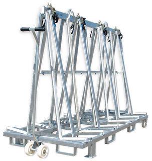 "Aardwolf Galvanized Transport A-Frame 96"" with 8 Locking Bars"