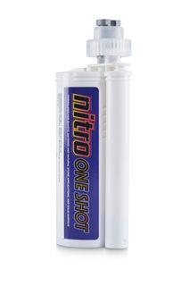 Nitro One Shot Adhesive 250 ml 100 Chalk with 2 Tips