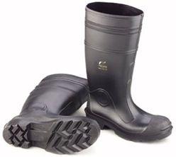 Buffalo Style Steel Toe Boots Black, Size 8