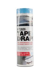 Pre-Taped Plastic Drop Cloth 3.94' x 72' .5mil Tape and Drape