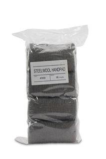 Diarex #000 Steel Wool Hand Pad, Bag of 16 Pads