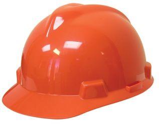 Orange Hard Hat, ANSI Z89.1-2003 Compliant, Ratchet