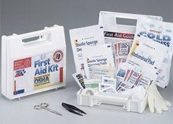 First Aid Kit, OSHA Compliant, Treats up to 10 People