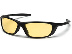 PYRAMEX AZERA SAFETY GLASSES BLACK FRAME AMBER LENS