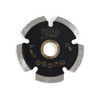 "Diamond Tuck Point Rodding Blade 7"", 5/8-Knockout-7/8 Arbor"