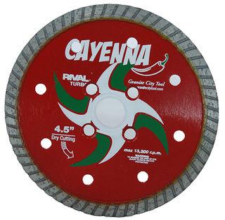 "Cayenna Turbo Blade 4 1/2"" 5/8""-20mm-7/8"" 4 Holes"