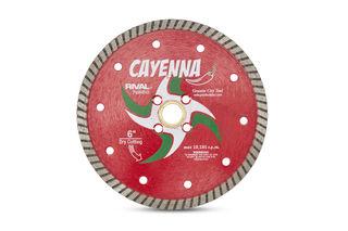 "Cayenna Turbo Blade 6"" 5/8""-20mm-7/8"" 4 Holes"