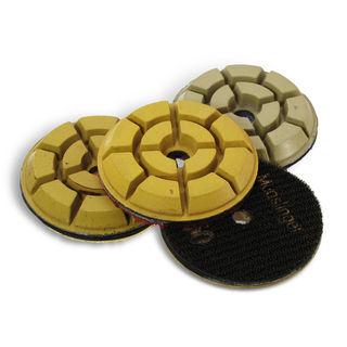 """Mudslinger Floor Polishing Disc 3"""", 400 Grit Yellow"""