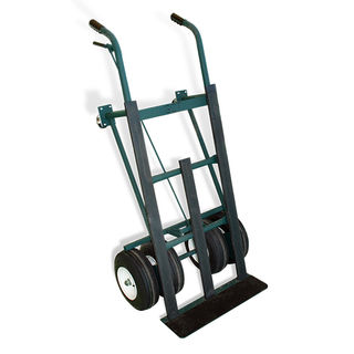 Dual Tire Hand Truck with Brake, ships truck