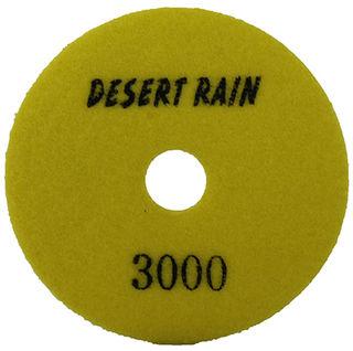 "Desert Rain Wet/Dry Diamond Polishing Pad 4"" 3000 Grit Yellow"