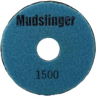 "Mudslinger Concrete Diamond Polishing 5"" Disc #1500 Light Blue"
