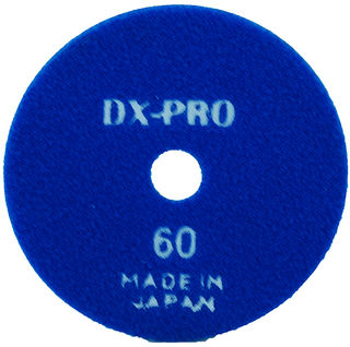 "DX-PRO Wet Polishing Disc 4"" 60 Grit Blue"