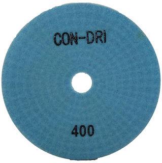 """Con-Dri Flexible Dry Concrete Pad 4"""" 400 Grit Light Blue"""