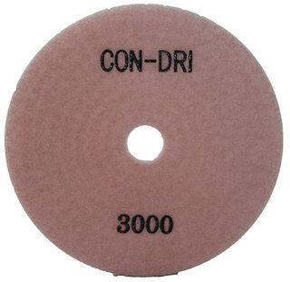 "Con-Dri Flexible Dry Concrete Pad 4"" 3000 Grit Pink Velcro"