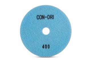 """Con-Dri Flexible Dry Concrete Pad 5"""" 400 Grit Light Blue Velcro"""