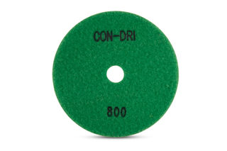 """Con-Dri Flexible Dry Concrete Pad 5"""" 800 Grit Dark Green Velcro"""