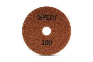 "DX-Pro Dry Polishing Pad 4"" 100 Grit Brown"