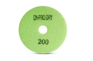 "DX-Pro Dry Polishing Pad 4"" 200 Grit Light Green"