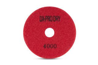 "DX-Pro Dry Polishing Pad 4"" 4000 Grit Red"