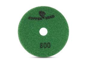 "Copperhead Copper Resin Pad 4"" 800 Grit Green Velcro"