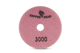 """Copperhead Copper Resin Pad 4"""" 3000 Grit Pink Velcro"""