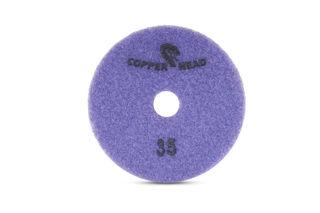 "Copperhead Copper Resin Pad 4"" 35 Grit Purple Velcro"
