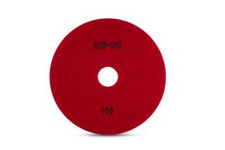 """Con-Dri Flexible Dry Concrete Pad 7"""" 100 Grit Red Velcro"""