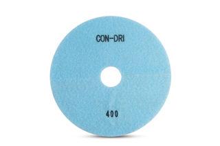 """Con-Dri Flexible Dry Concrete Pad 7"""" 400 Grit Light Blue Velcro"""