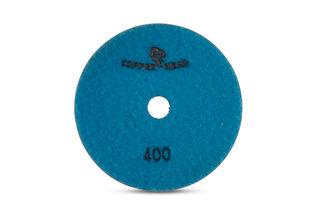 "Copperhead Copper Resin Pad 5"" 400 Grit Blue Velcro"