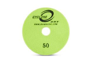 "Cyclone Dry Premium Pad 4"" 50 Grit"