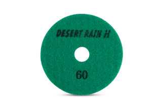 "Desert Rain Honeycomb Dry Pad 4"", 60 Grit, Dark Green Velcro"